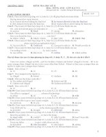 Tuyển chọn đề thi và đáp án tiếng anh lớp 11 cuối học kỳ tỉnh Bình Định