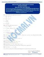 bộ chuyên đề khảo sát hàm số của hocmai.vn