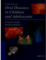 color atlas of oral diseases in children and adolescents  -  c. scully, r. welbury (mosby, 1994)