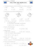 Bài tập áp dụng công thức lượng giác full