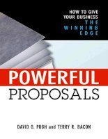 amacom powerful proposals how to give your business the winning edge