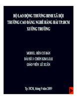Bài giảng Mođun Rèn cơ bản - Bài 3: Chồn Kim loại - GV. Lê Xuân