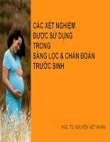các xét nghiệm sàng lọc và chẩn đoán trước sinh