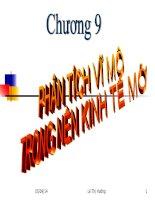 Chương 9 phân tích vĩ mô trong nền kinh tế mở