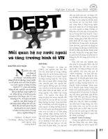 Nợ nước ngoài và tăng trưởng kinh tế việt nam