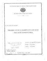 đồ án tốt nghiệp tìm hiểu về ổi và nghiên cứu sản xuất thử nước ổi đóng chai