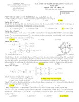 hướng dẫn giải chi tiết đề thi đại học vật lý  năm  2013