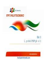 bài 3 lập trình php (phần 1)