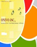bài thuyết trình về tập đoàn onivo jsc (international travel – event.wedding plannning – golf practise)