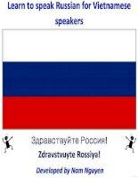 Learn to speak Russian for Vietnamese