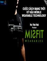 cuộc cách mạng thời kỳ hậu mobile wearable technology