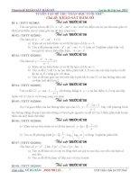 tuyển tập khảo sát hàm số trên thử sức trước kỳ thi thtt