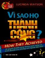 Vì sao họ thành công (vol 1)