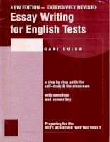 hướng dẫn viết luận văn trong kỳ thi ielts