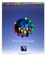 Teacher Guide English For Success DynEd