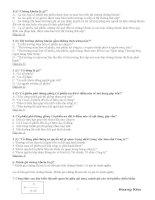 Câu hỏi và đáp án trắc nghiệm môn Chứng khoán