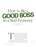 How to be a GOOD BOSS in a bad economy
