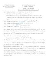 Đề thi thử Đại học lần 2 môn Toán khối D năm 2014 - Trường THPT Ngô Gia Tự