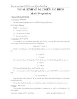 khảo sát đặc điểm mô hình matlab