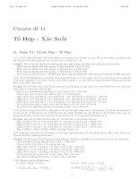 Tổ hợp xác suất - Luyện thi ĐH (Có đáp án chi tiết)