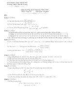 Đề thi học kì 2 môn Toán 10 co dap an