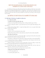 MỘT SỐ VẤN ĐỀ CƠ BẢN VỀ PHƯƠNG PHÁP LUẬN NGHIÊN CỨU KHOA HỌC GIÁO DỤC