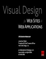 Visual Design for Web Sites  and Web Applications