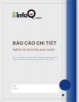 báo cáo về tình hình sử dụng game mobile và đánh giá của khách hàng về dịch vụ hiện tại. đánh giá tiềm năng thị trường game mobile. tháng 2 2013