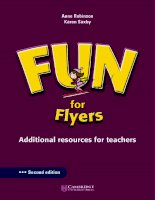Cambridge   FUN for flyers teacher''''''''s book 2nd edition