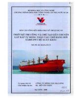 Thiết kế thi công và chế tạo dây chuyền lắp ráp tự động thân tàu chở hàng rời 53.000 DWT  để xuất khẩu