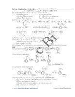 bài tập hóa hữu cơ đại học