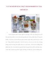 9 lý DO để bổ SUNG THỰC PHẨM PROBIOTIC vào CHẾ độ ăn