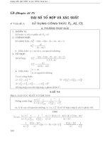 Chuyên đề đại số và tổ hợp ôn thi đại học
