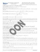 20 đề THI THỬ đại học môn toán năm 2013