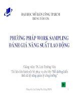 Phương pháp Work sampling đánh giá năng suất lao động - TS. Lưu Trường