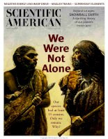 scientific american   -  2000 01  -  we were not alone  only we remain  why