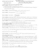 5 đề thi thử đại học môn toán có đáp án (3)