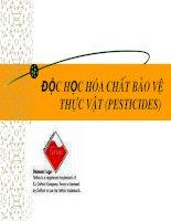 độc học hóa chất bảo vệ thực vật