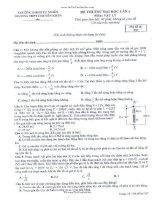 đề thi thử khối a 2014 lý  chuyên khoa học tự nhiên hn lần 4