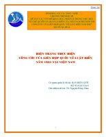 Các vấn đề khoa học, pháp lý trong việc bảo vệ chủ quyền và quản lý biển của việt nam phù hợp với công ước của liên hợp quốc về luật biển năm 1982   hiện trạng thực hiện công ước của liên hợp quốc về luật biển năm 1982 tại vi