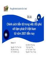 Tiểu luận: Chính sách tiền tệ trong việc đối phó với lạm phát ở Việt Nam từ năm 2007 đến nay