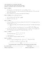đề thi đề xuất chọn hsg toán lớp 10