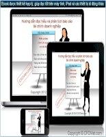 hướng dẫn đọc hiểu và phân tích báo cáo tài chính doanh nghiệp