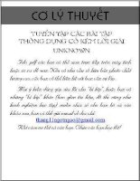 Tuyen tap cac bai co ly thuyet thong dung + loi giai (phan 2)
