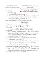 đề thi thử và đáp án toán chuyên sư phạm hà nội lần 5