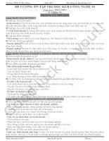 đề cương ôn tập thi học kì ii - công nghệ 10