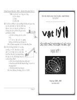 Câu hỏi trắc nghiệm và bài tập vật lý lớp 10