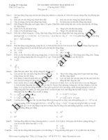 tổng hợp 100 câu dao động cơ - ltđh (đáp án đầy đủ)
