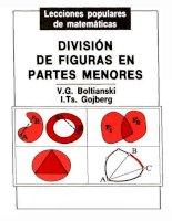 v.g. boltianski & i. ts. gojberg.- división de figuras en partes menores