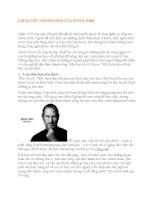 6 bí QUYẾT THÀNH CÔNG của STEVE JOBS